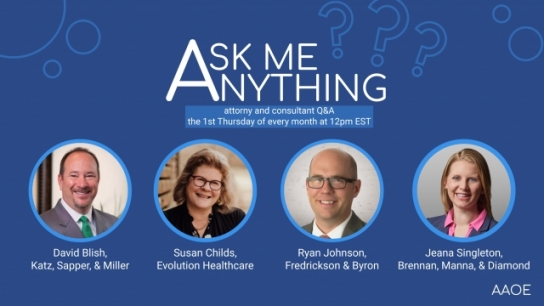 May Ask Me Anything! Monthly Q&A with Attorneys and Consultants
