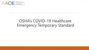 Understanding OSHA's COVID - 19 Healthcare ETS