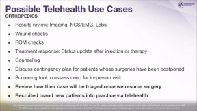 Webinar: Lessons Learned in the Field Building Your Telehealth Virtual Ortho Pain Practice